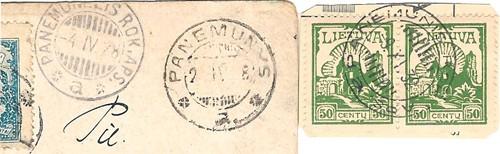 Panemunis standard date postmark