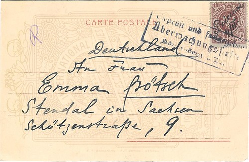 Prienai 1919 manuscript cancel