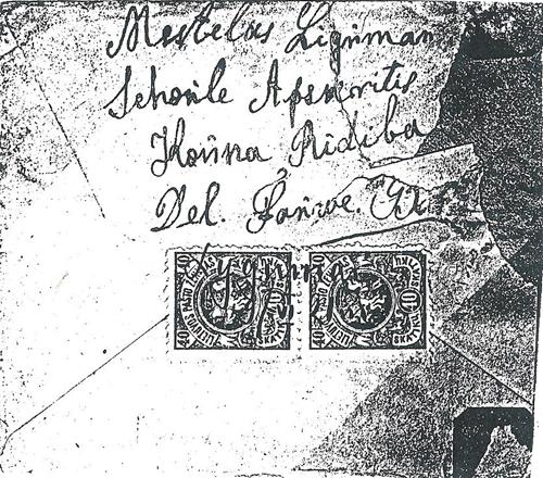 Lygumai 1921 manuscript cancel