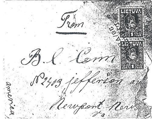 Lygumai 1921two-line cachet
