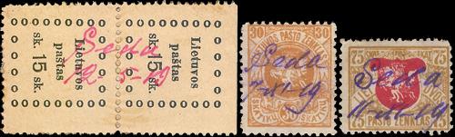 Seda 1919 MS cancels