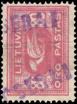 Kursenai 1919 One-liner cachet