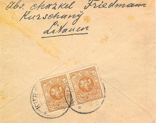 Kursenai 1919 standard cancel