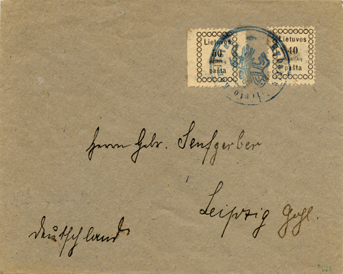 Kybartai 1919 cancelling by seal only