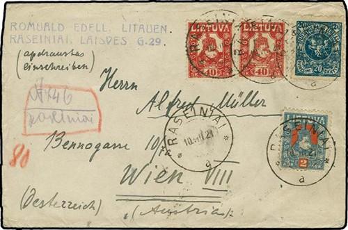 Raseiniai 1921 provisional registration MS
