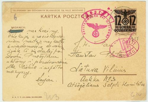 Kresna 1940 General Gouvernement Vilnius postage due