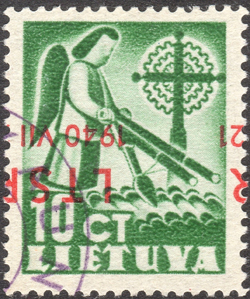 Lithuania 1940 Mi 451K used
