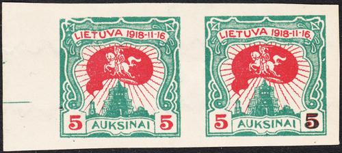 Lithuania 1920-Mi 75IU pair