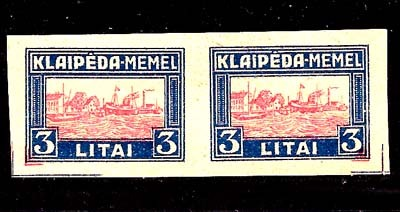 Lithuania 1923 Klaipeda Harbor Scene assay