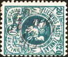 Krakiai 1919 cancelling by manuscript