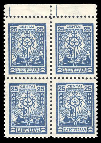LT-1923-Mi-215-block-x4-Lot-2213