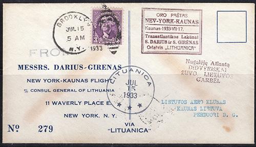 Lithuania 1933 Lituanica Darius Girenas
