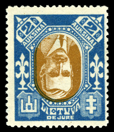 Lithuania 1922 De Jure inverted center