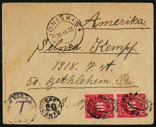 LT-1922-Joniskis-Bethlehem-PA-b-postage-due-sm