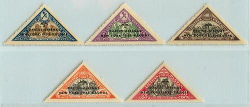Lithuania 1933 Darius Girenas overprints