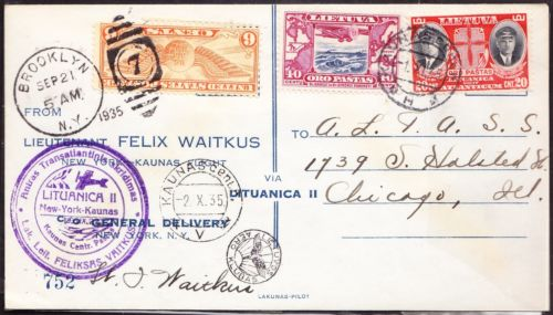Vaitkus transatlantic flight cover