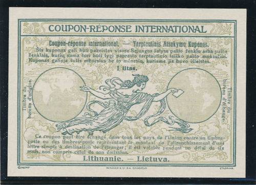 Lithuania 1925 IRC Stockholm design
