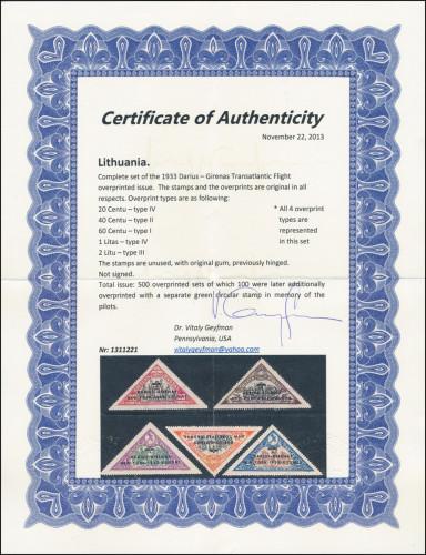 New Dr. Geyfman certificate