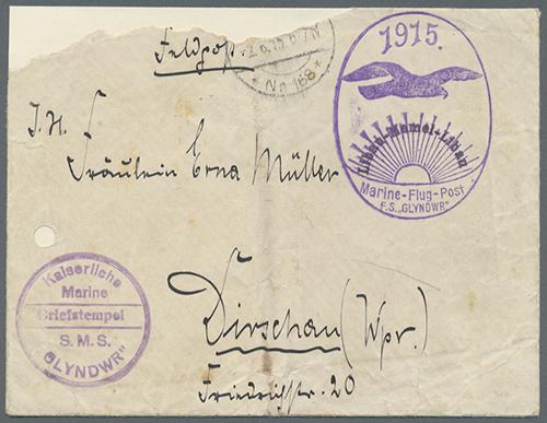 Memel 1915 naval air mail Libau-Memel