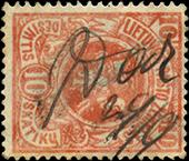 Darbenai 1919 canceling in manuscript