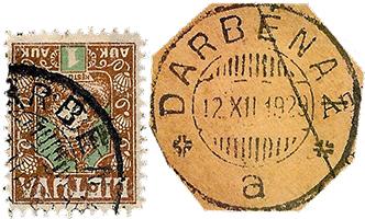Lithuania Darbenai 1922 and 1929