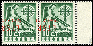 LT-1940 Mi-451 inverted overprint