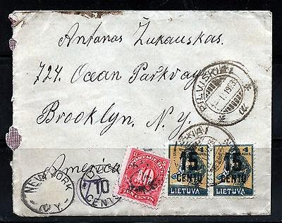 LT-1923 Pilviškiai Brooklyn postage due