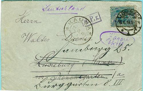 Lithuania 1919 Zagare Luneburg