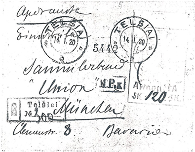Lithuania-1920 Telsiai reg 300