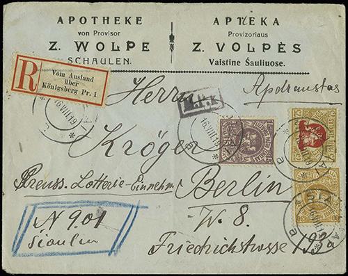 Siauliai 1919 provisional reg 901