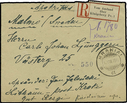 Krakiai 1922 provisional registration 1740