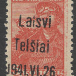 German occupation forgeries WWII Telsiai Lithuania forgery
