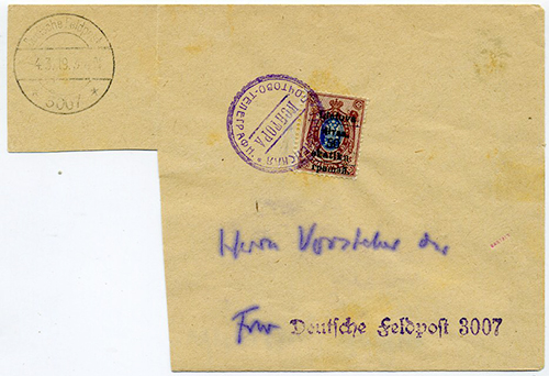 LT-1919 Grodno Fwr 3007 Feldpost