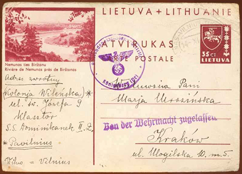 LT-1939 TPO Kaunas-Vilnius-Turmantas EKU 14-XI-1939