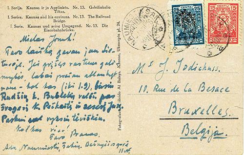 LT-1926 War orphans Naumiestis Brussels