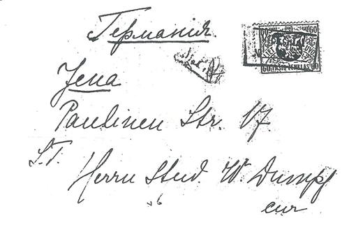 Vieksniai 1919 rectangular cachet