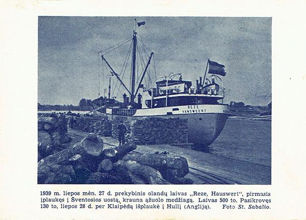 1939 Reze Hauswert at Sventosios Uostas