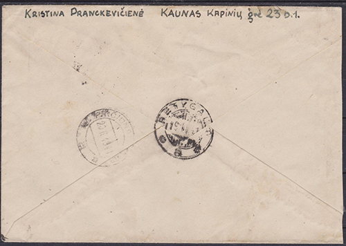 LT-1941 Kaunas Pasandrovis mixed franking