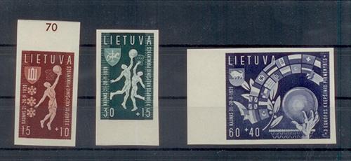 LT-1939 Basketball semipostal imperf set
