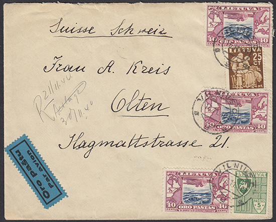 LT-1940 Vilnius Olten Switzerland MS registration