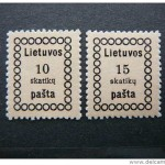 Lithuania stamp forgeries on Delcampe