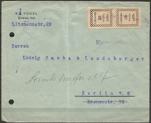 LT-1918 Kaunas Vogel - Berlin