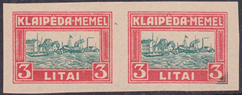 LT-1923 Klaipeda Harbor issue essay red-green 3L