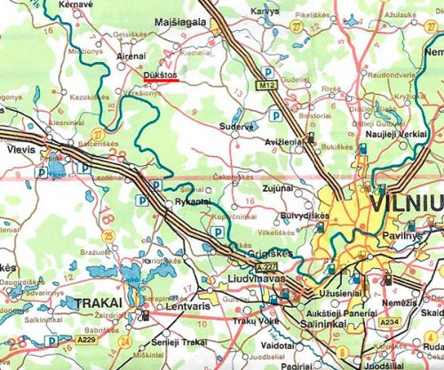 Map of Dukstas Vilnius Apskritis