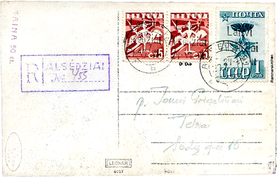 Alsedziai fake cover 1941