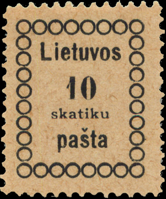 Lithuania Vilnius issues Mi 3 Sc 3 forgery