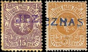 Jeznas 1919 a makeshift one-liner cachet