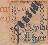 Lithuania Telsiai 1919 one-liner