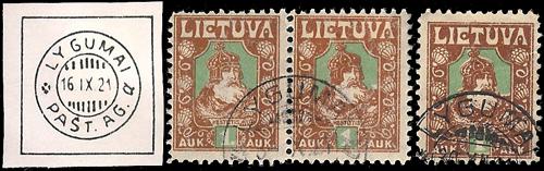 Lygumai 1921 circular cancels