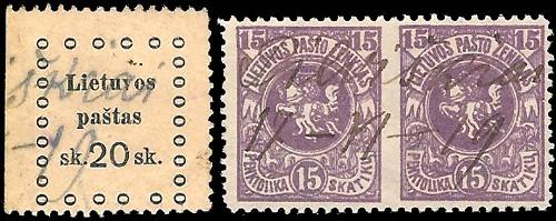 Pilviskiai 1919 provisional MS cancels